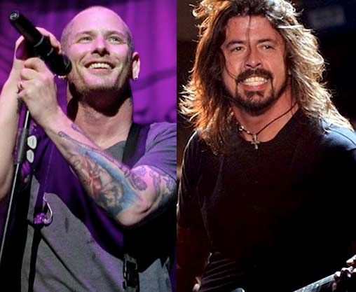 Dave Grohl Corey Taylor insieme (foo fighters e slipknot)