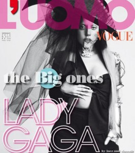Lady Gaga in posa su L'Uomo Vogue