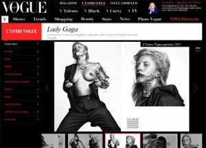 lady Gaga foto hot nuda Vogue