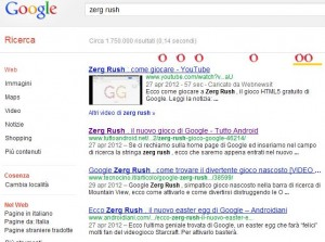 zerg rush google easter egg zeri