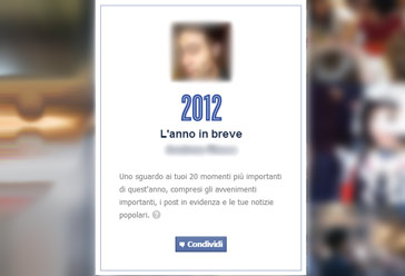 anno facebook in breve 2012