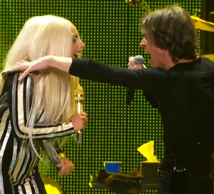 lady gaga rolling stones live video