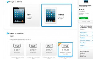 ipad 128 gb memoria 799 euro apple store